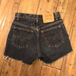 Vintage Levi's 517 denim shorts